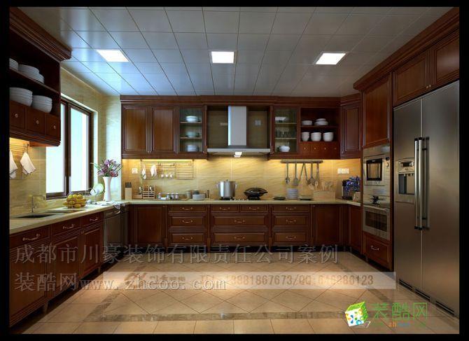 欧式风格别墅装修效果图,厨房装修效果图 欧式风格别墅装修设计套图