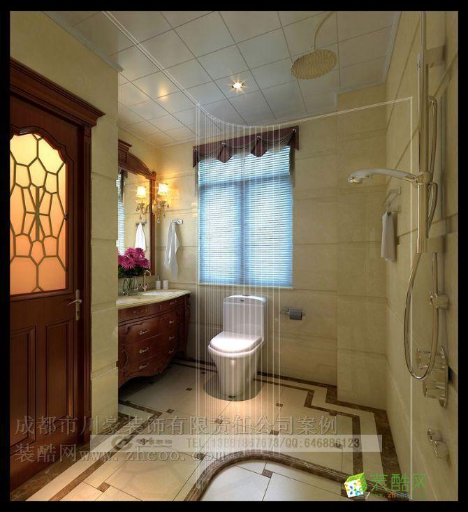 卫浴 欧式风格别墅装修效果图,卫生间效果图 欧式风格别墅装修设计