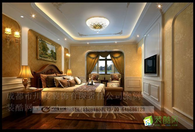 卧室 欧式风格别墅装修效果图,卧室效果图 欧式风格别墅装修设计套图