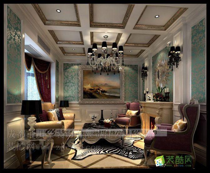 雅居乐香草山,别墅装修效果图,客厅装修效果图 雅居乐奢华欧式别墅