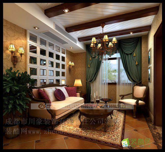 神仙树欧式 美式风格装修,起居室装修效果图