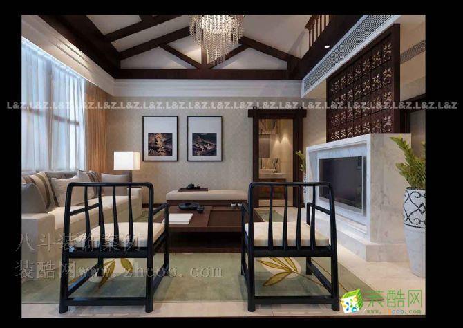 空间类型:中式风格 别墅花园 房屋面积:300  工程造价:12万 本设计中,这套房子的主人喜欢新中式的感觉稳重大气,而有要求简洁温馨,这似乎有些矛盾。因此设计做了细致的考虑,将中式的感受性的意韵与现代简洁构成化的设计手法相结合。大片面懂得材质表现与细腻的对比相结合以体现大气与细腻的中和与对比。在设计中还加入了些许新装饰主义的风格,完美的体现了房子主人内心的家体验理想之屋。