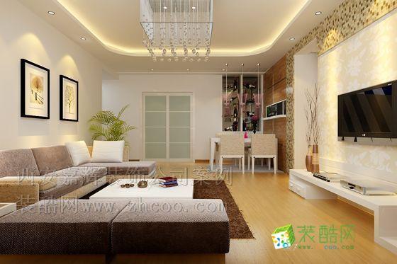 东窑坊 二居室 108平米 客厅装修效果图