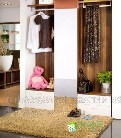 綠地小區玄關,衣帽柜
