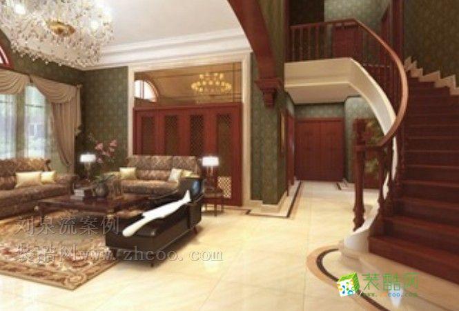 超豪华欧式别墅楼梯内景