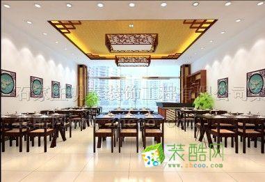 中式飯店_裝酷網裝修效果圖