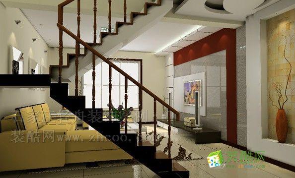 跃层楼梯客厅的设计图