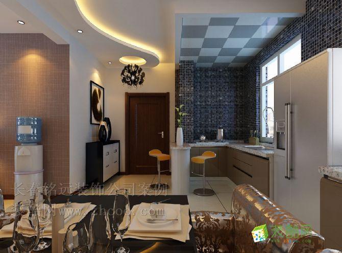 装修设计—豪邦四季经典敞开式厨房装修