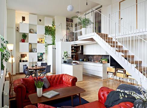 小复式楼装修多少钱 复式楼楼梯如何设计高清图片
