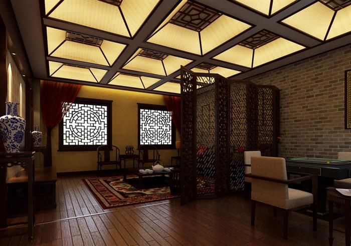 中式茶楼装修效果图欣赏