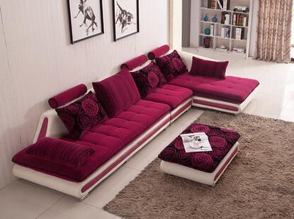 新古典欧式皮布艺布沙发价格