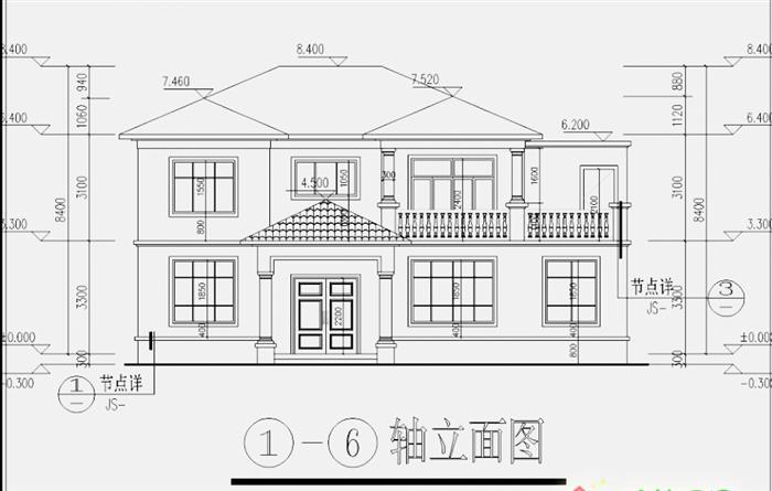 农村二层楼房设计图纸详情(施工图,设计图)图片