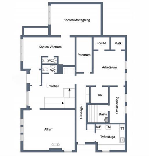 欢迎来参观这套别墅,别墅建于1963年,共234平米,外加110平米的车库。而室内整体风格有着朴实的北欧家庭味道。有8个房间,其中有2个休息室一楼还有一间桑拿房,虽是朴实却有着足够自我空间的别墅。上面是这套别墅设计平面图。