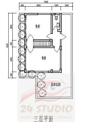 82平两层半农村小住宅装修成三层楼房 图很全