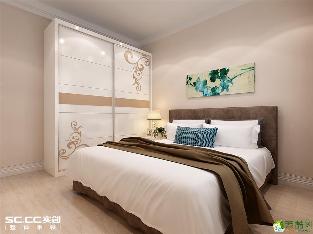 卧室 哈尔滨实创装饰7万元装修三松宜家87平现代简约两居室温馨美家