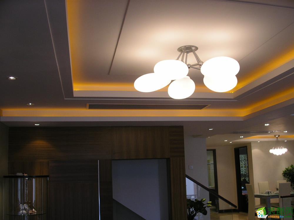 114平三室混搭风装修样板房效果图