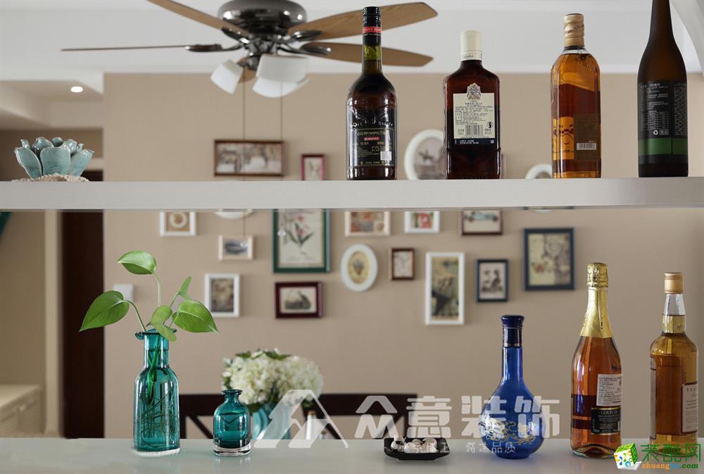 龙湖水晶城100平三居室美式风格案例赏析