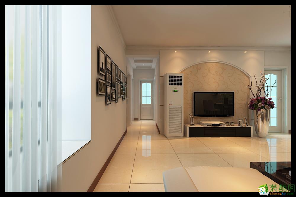 天津华庭装饰-三居室-现代简约