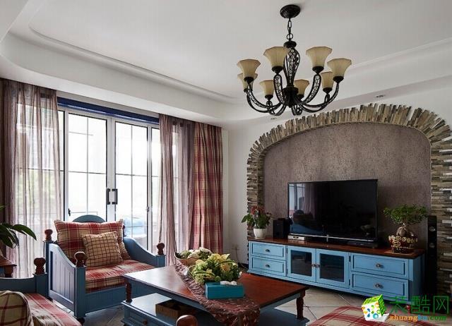 西安装修公司保艺装饰国宾中央区152平方地中海风格
