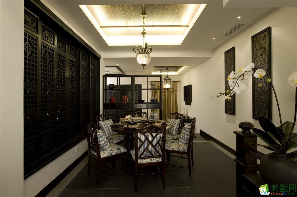 西安装修公司保艺装饰中华世纪城150平方中式风格