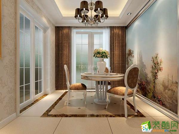 西安龙发装饰装修案例:普华浅水湾165平新古典风格效果图