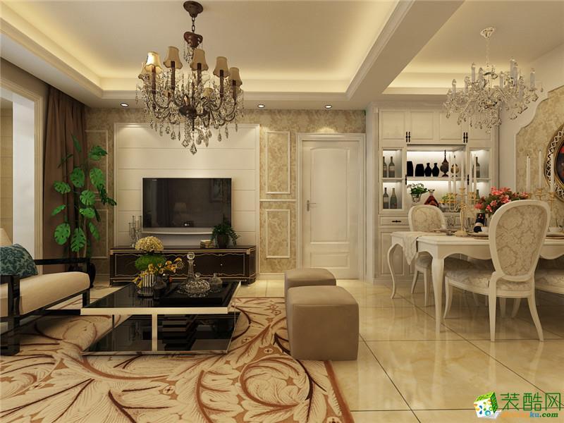 【梵客家装】云锦世家88平简欧风格装修设计_北欧两室
