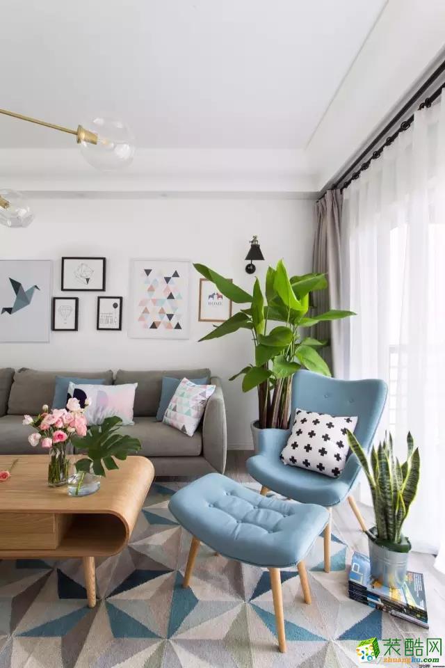 120平北欧三居室装修效果图
