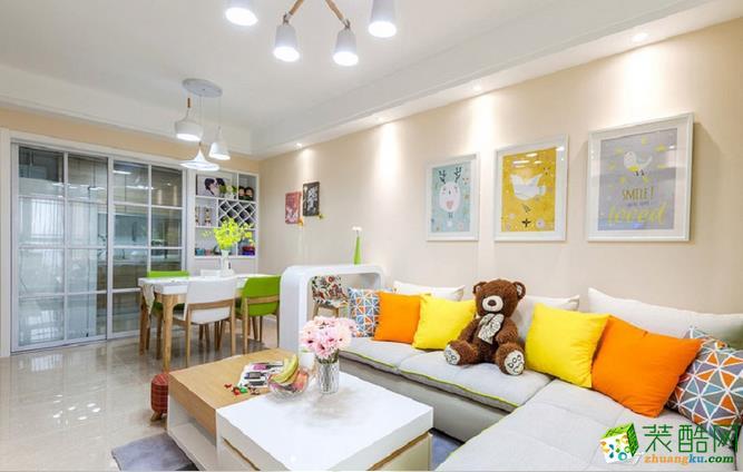 名艺置家-109平三室现代简约温馨风装修效果图