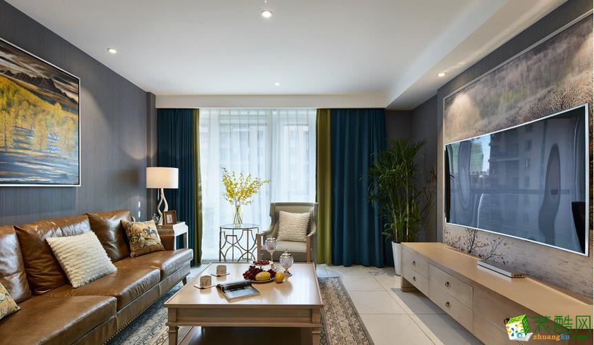 隆瀚千禧装饰-95平2室2厅北欧风格装修效果图
