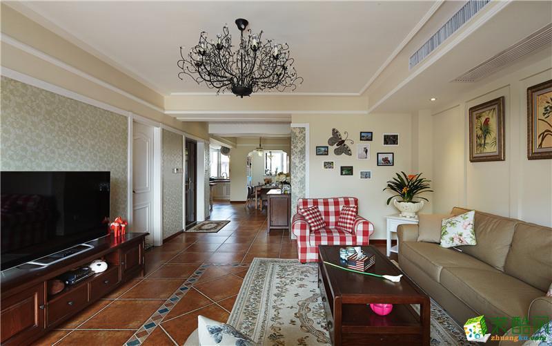三居室天园美式风装修样板房图片,美腻了