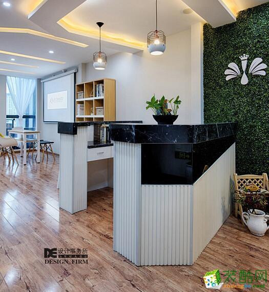 前台de设计案例美容院装修设计北欧风格
