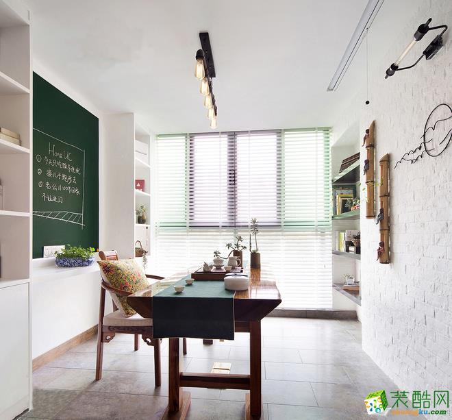 158平三室一厅装修效果图-新古典风玄关超美