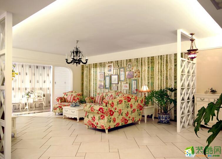 天津星艺装饰-欧式风格 三室两厅保利玫瑰湾装修效果图