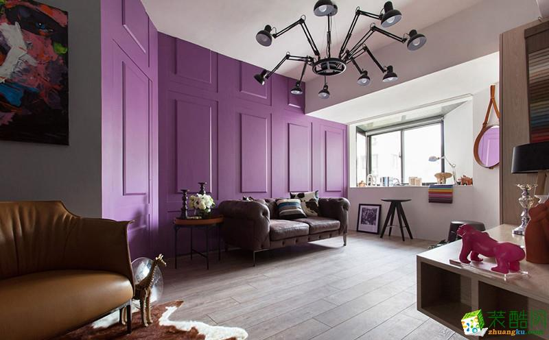 城色装饰精品工程――紫色浪漫 1室1厅 现代简约装修效果