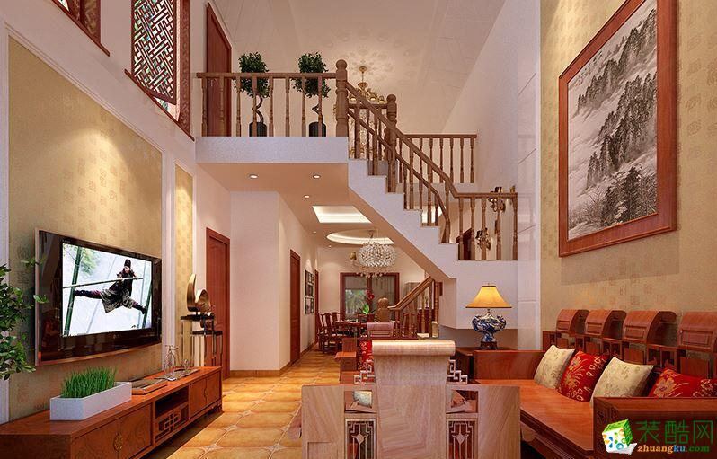 天津怡家装饰-16万打造中式风格阁楼 装修效果图