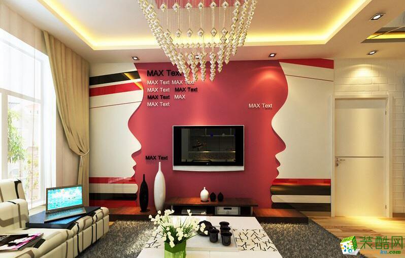 天津怡家装饰-50平米时尚现代家居装修效果图