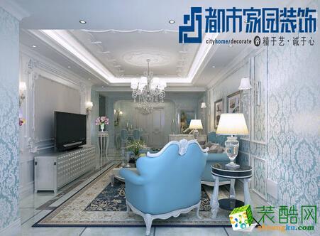 天津都市家园100平米现代简约风格装修案例