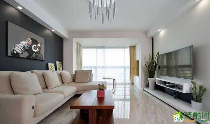 现代风格三房装修效果图--杭州康源