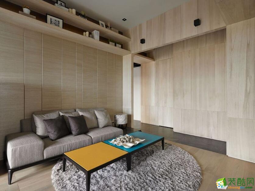 凯泽装饰--68平现代小户型暖宅案例图