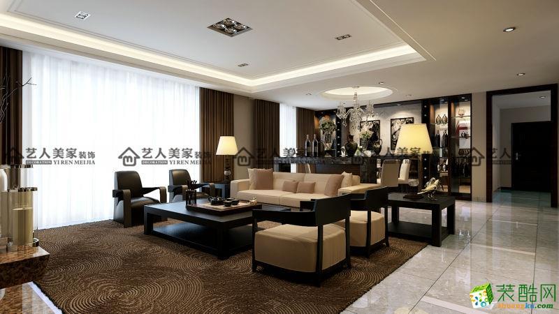 >> 藝人美家裝飾-中式風格 三居室裝修案例圖