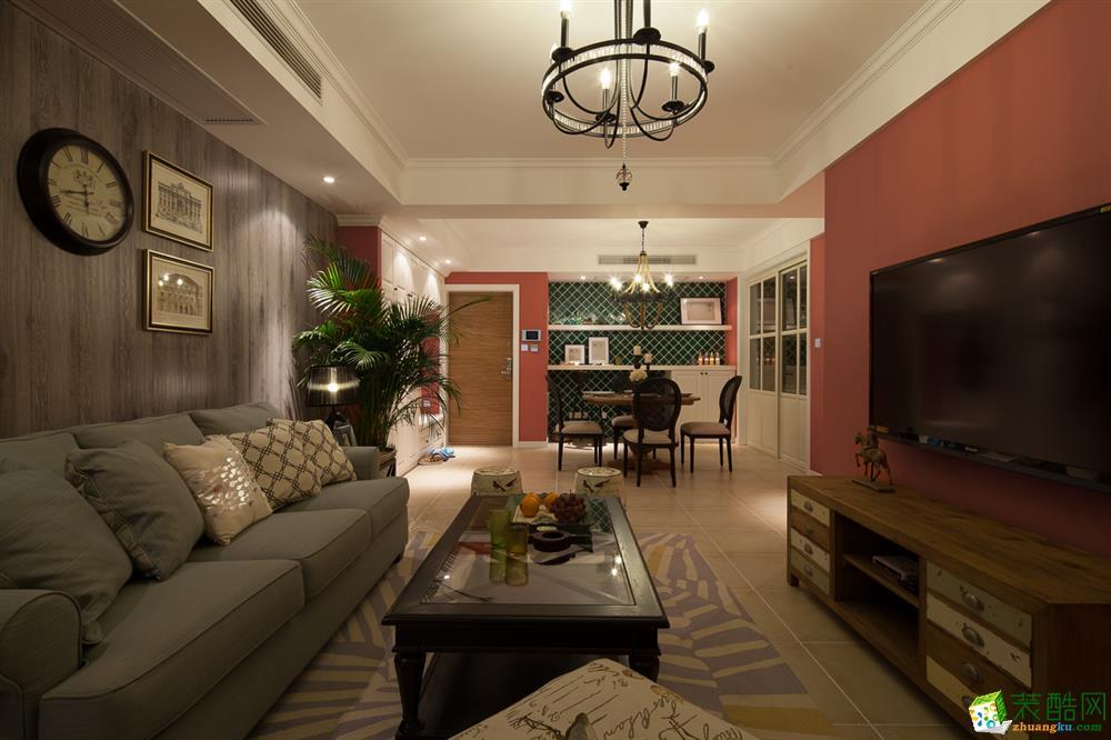 128平三居室北歐風格裝修設計效果圖