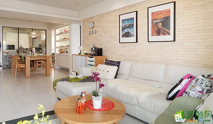 客厅 开翼装饰样板房-三室北欧风装修效果图