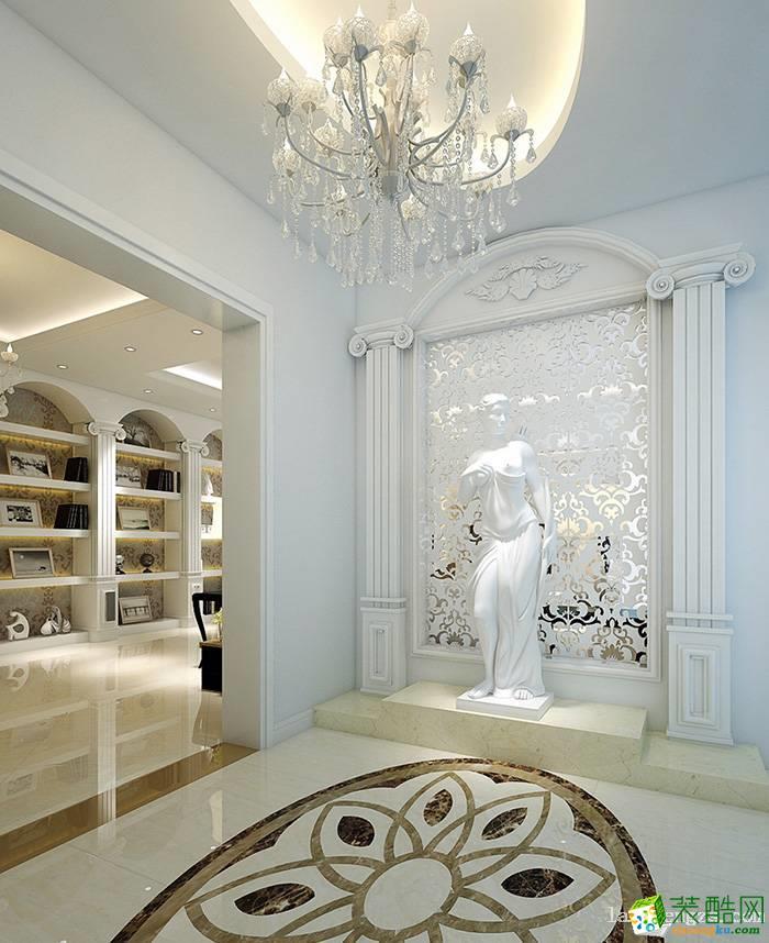 琅蜂装饰-欧式风格130平米装修效果图_欧式三室两厅一