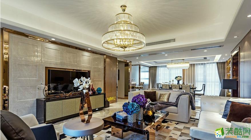 美尚美家装饰-120平三室两厅装修设计效果图