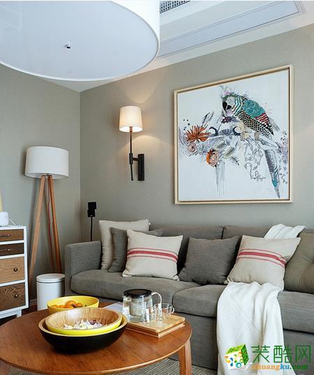 美尚美家装饰-135平三室大户型装修设计效果图-温暖如我