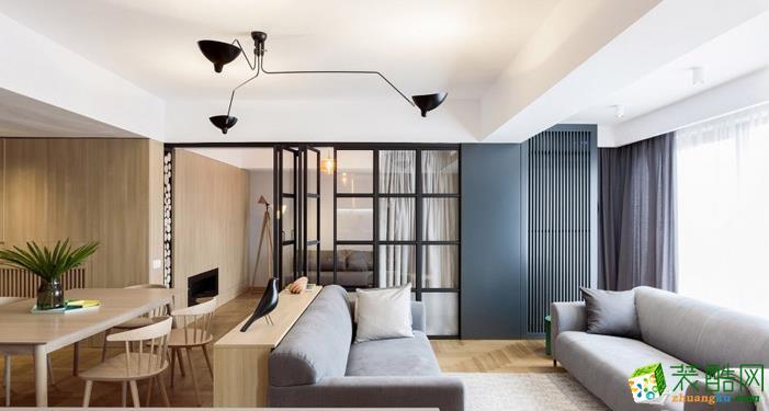 美尚美家装饰-170平四室两厅装修效果图-北欧原木风