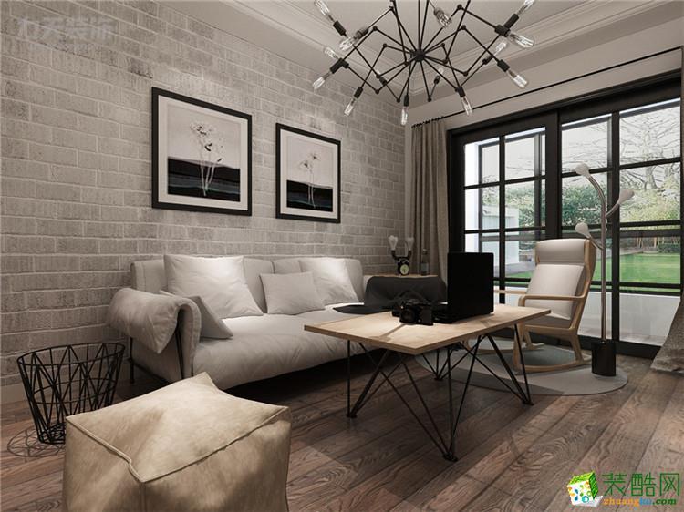 【力天装饰】观锦-92㎡-北欧风格_欧式两室两厅一卫