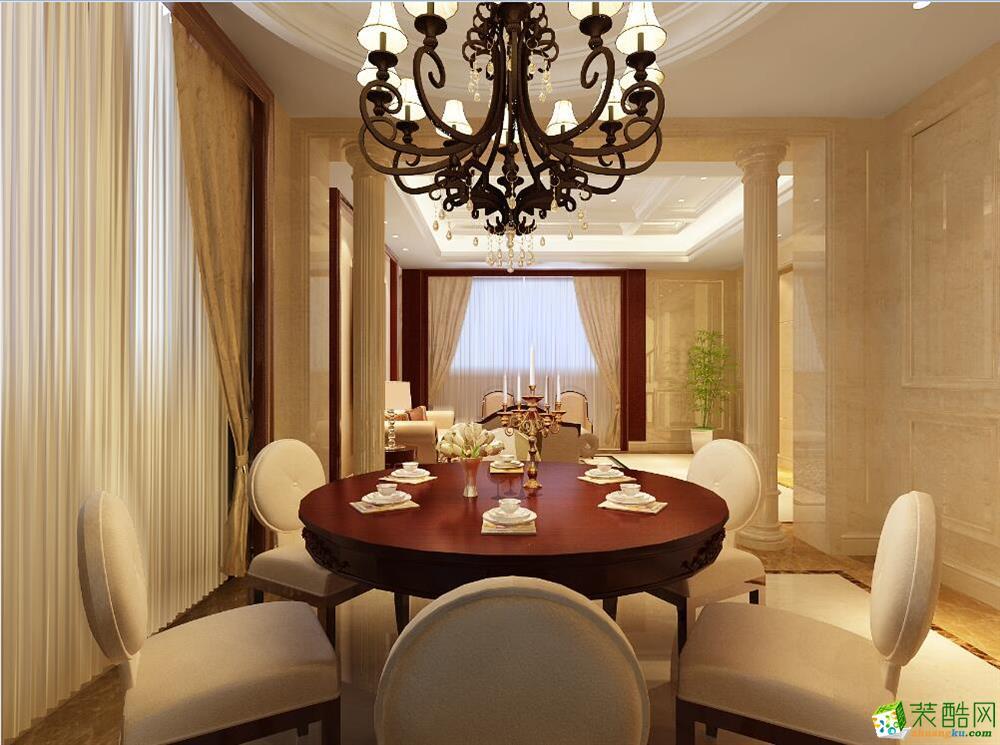 中式风格134平米装修效果图-尚美家装饰
