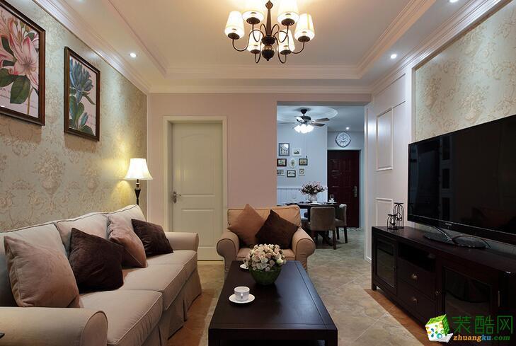 86平两居室装修设计效果图-美式自由风