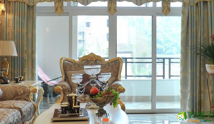 重庆爱特装饰简欧装饰样板房,三室装修效果图